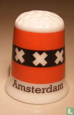 Amsterdam gemeentevlag vingerhoedje