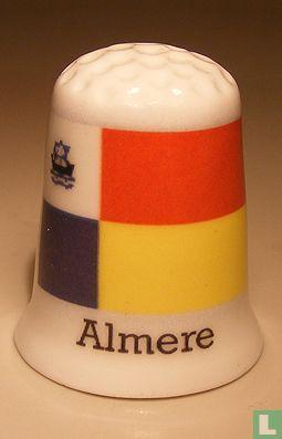 Almere gemeentevlag vingerhoedje