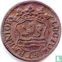 """Zeeland - Zealand duit 1754 """"LUCTOR ET EMENTOR"""""""