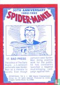 Spider-Man II: 30th Anniversary 1962-1992 - Bad Press