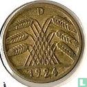 Allemagne - Empire allemand 5 rentenpfennig 1924 (D)