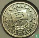 Nederland 5 centecu 1992 - Afbeelding 1