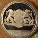 "Latvia 10 latu 1998 (PROOF) ""20th century Riga - 800th anniversary of Riga"" - Image 1"