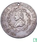 Herdenkingspenningen - USA  George Washington Funeral Medal (skull & crossbones)  1799