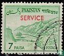 Pakistan - Khyber Pass met opdruk