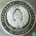 """Belarus 20 rubles 2010 (PROOF) """"Eagle owls"""" - Image 1"""