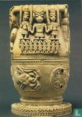 Owo Yoruba - Jug with carved human and animal figures