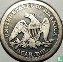 Verenigde Staten (USA) - Verenigde Staten ¼ dollar 1858 (zonder letter)