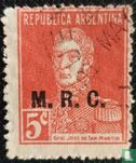 "Argentine [ARG] - José Francisco de San Martín (1778-1850), ovpt. ""MRC"""