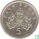 United Kingdom (Great Britain) - United Kingdom 5 pence 1998