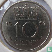 Nederland 10 cent 1954