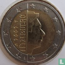 Luxembourg 2 euro 2002 (large stars)