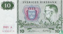 Schweden 10 Kronor 1983 (P52d4)