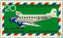 50 jaar luchtpostverkeer in Duitsland