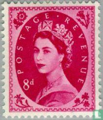 Queen Elizabeth II (Wilding) – multiple crowns