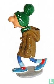 Gaston en duffle coat