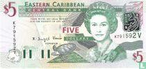 Oost. Caraïben 5 Dollars V