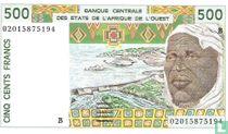 West Afr. Stat. 500 Francs B
