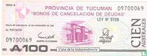 Argentinië 100 Australes 1991 (Tucuman)