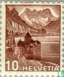Kasteel van Chillon en Dents du Midi