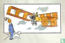 """Chromo's """"Vliegtuigen collectie B reeks 1"""" 1 """"Het vliegtuig '14 bis' van Santos-Dumot (1906)"""""""