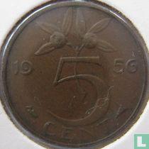 Nederland 5 cent 1956