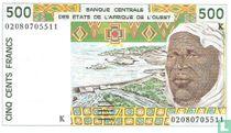 West Afr. Stat. 500 Francs K