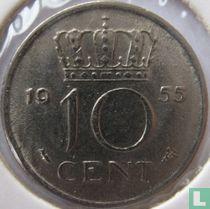 Nederland 10 cent 1955