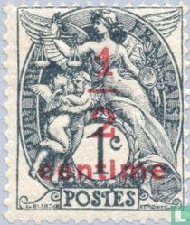 Allegorie (Type Blanc), met opdruk