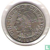 Mexico 50 centavos 1980 (smal jaartal)