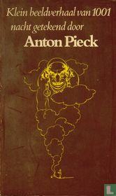 Klein beeldverhaal van 1001 nacht getekend door Anton Pieck