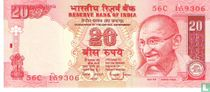 India 20 Rupees 2006 (A)
