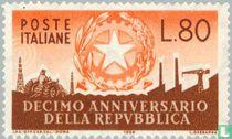 Republiek Italië 10 jaar