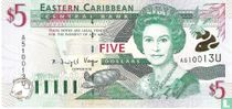 Oost. Caraïben 5 Dollars U