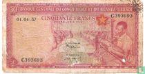 Belgian Congo 50 Francs