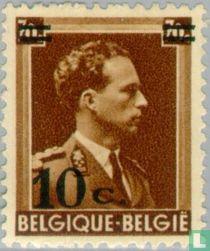 Koning Leopold III, met opdruk