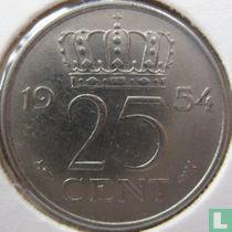 Nederland 25 cent 1954