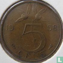 Nederland 5 cent 1958