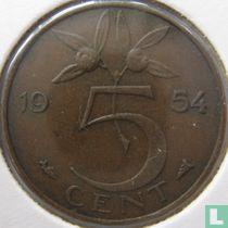 Nederland 5 cent 1954 (met gebroken E)