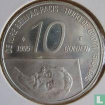 """Nederland 10 gulden 1995 """"300th anniversary Death of Hugo de Groot"""""""