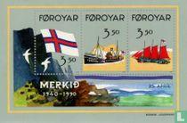 Flag Faroe Islands 1940-1990