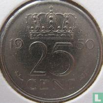 Nederland 25 cent 1950
