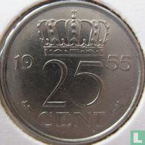 Nederland 25 cent 1955