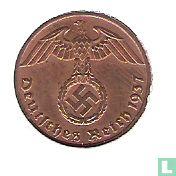 Duitse Rijk 1 reichspfennig 1937 (F)