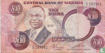 Nigeria 10 Naira ND (1979-) P21c