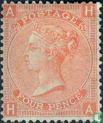 Koningin Victoria 14 Grote letters
