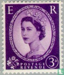 Koningin Elizabeth II (Wilding) - grafiet+fosfor