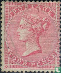 Queen Victoria without corner letters