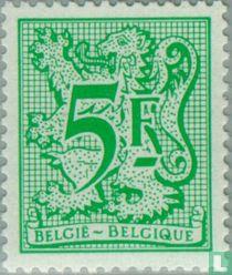 Ziffer auf heraldischem Löwen und Wimpel