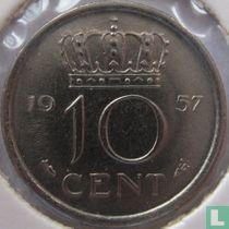 Nederland 10 cent 1957